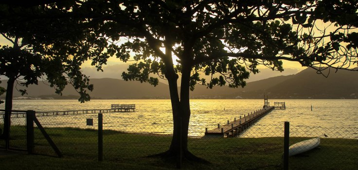 Lagoa de Conceição painted gold