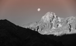 Sweeping shadow, rising moon, Chile