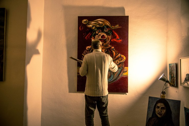 El artista y su sombra // the artist and his shadow