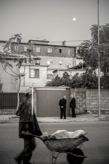 Men in waiting, Shköder, Albania
