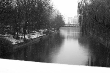 Snow Falls on the Canal