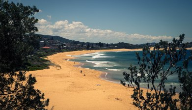 Terrigal bend towards Wamberal