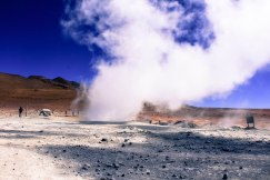 Sulphur Geysers, smells of rotten egg with gushes of hot air.