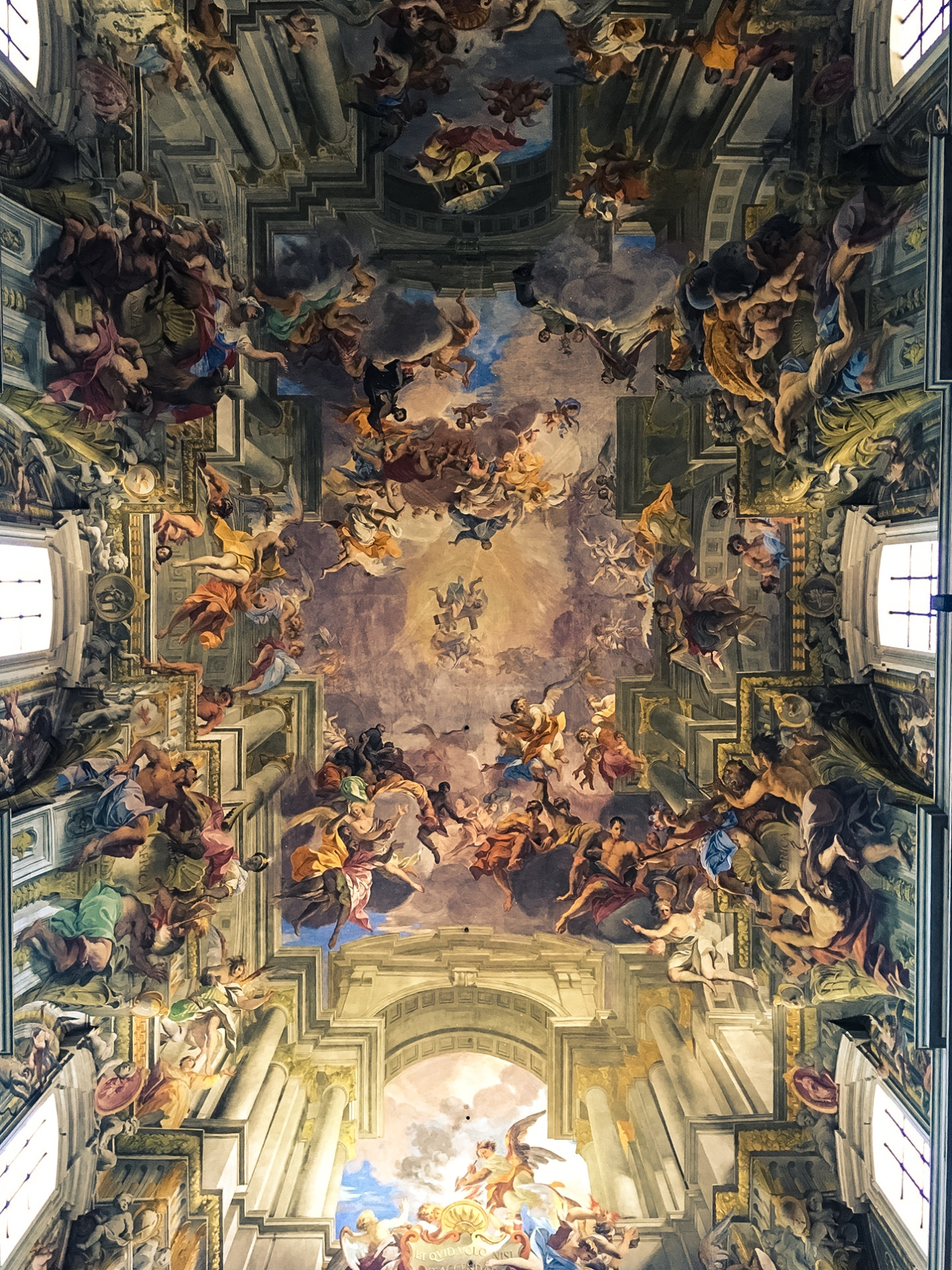 The sky is falling: perspective art in a house of God