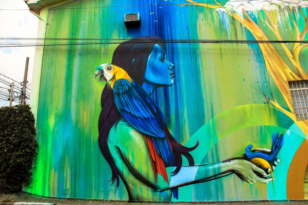Mother Nature street art in Vila Madalena, São Paulo
